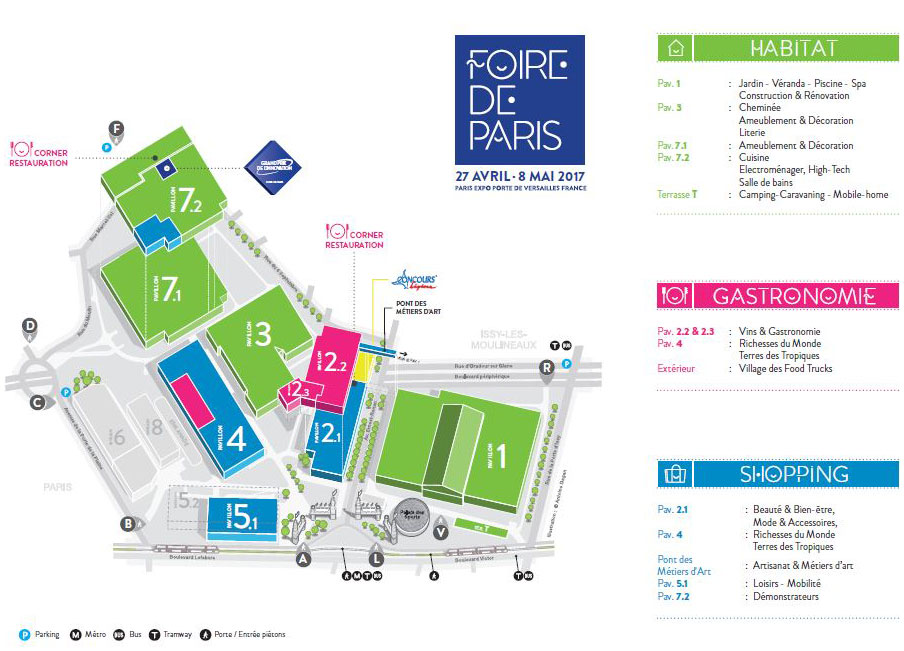 Plan de la Foire de Paris 2017
